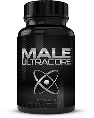 Bottle of Natural Male UltraCore Supplements