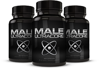 Three Bottles of Natural Male UltraCore Supplements